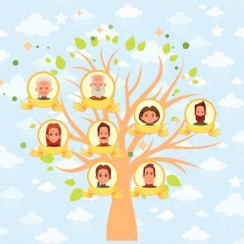 árbol genealógico niños 2