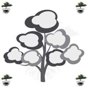 árbol genealógico niños blanco y negro