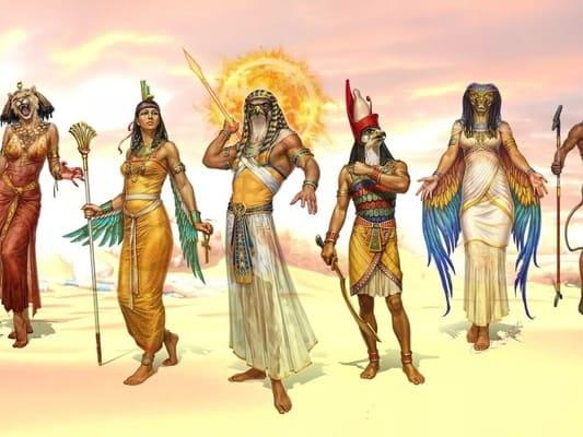 árbol genealógico de los dioses egipcios