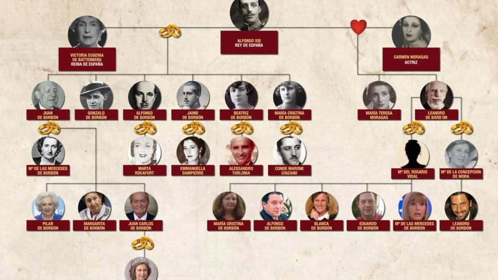 árbol genealógico en españa